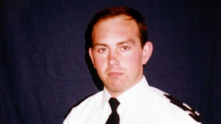 Pc Peter Evans was killed in a road traffic collision in February 2001