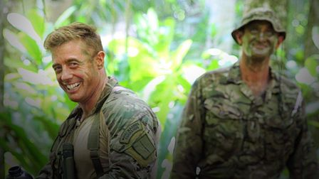 Tom on a training exercise in the jungle