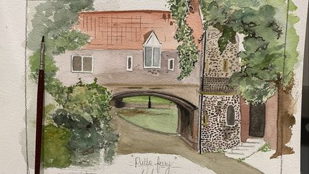 Nick Chinnery's painting of Pull's Ferry