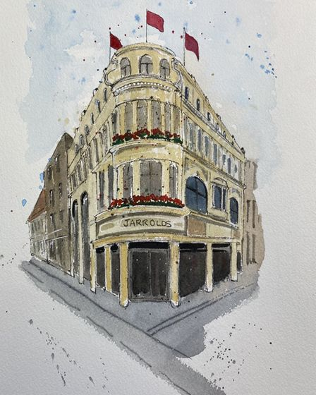 Mr Chinnery's depiction of Jarrold department store.