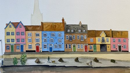 Mr Chinnery's painting of the Norwich quayside