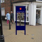 A proposed design for one of the wayfinding panels, to be located at the junction of Nunn's Way and Norwich Street