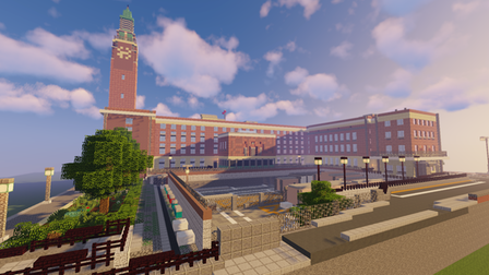 A Norwich student's Minecraft recreation of City Hall