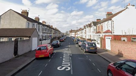 Sunningdale Avenue in Barking, viewed from the St Awdry's Road end.