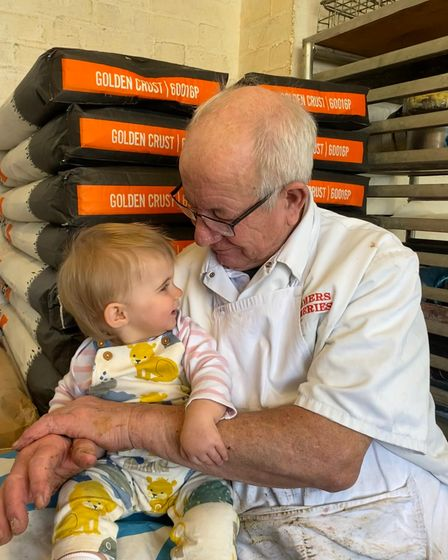 Kenneth and Alexandra Palmer, part of the family which has run the bakery in Haughley since the 1800's.