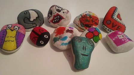 Terri Reed and others in the Downham Rockers group have been painting rocks and leaving them around Downham Market to...