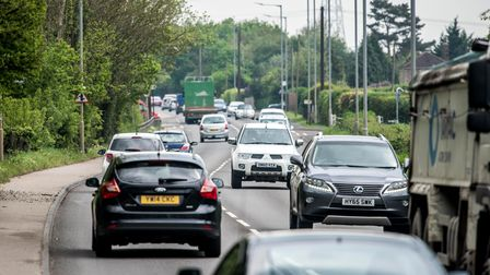 Traffic on the A10 at West Winch.