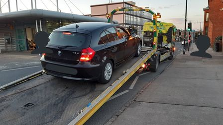 BMW seized outside Bury St Edmunds library and bus station