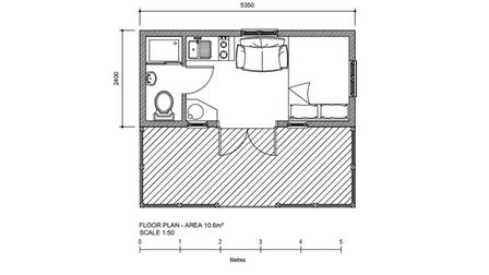 Plans for the layout of the converted railway carriages at Upper Grove Farm, Rendham.