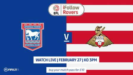 How Ipswich Town's game with Doncaster was promoted on iFollow this weekend