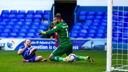 James Norwood scores Towns second to take them 2-0 up.