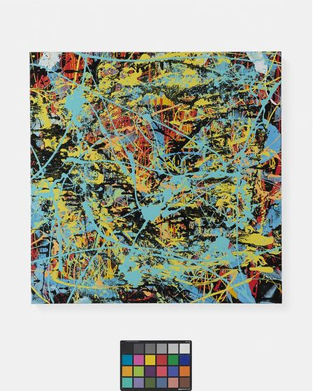 Splash Planet, the painting donated to CCiS by Ed Sheeran