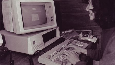 An IBM personal computer in a Norwich office