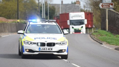 A pair of lorries carrying large steel tanks were given a police escort along the A10.