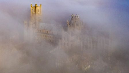 Ely Cathedral - Ship of the Fens rises majestically above the Mist,Cathedral, ElySunday 28 Februar