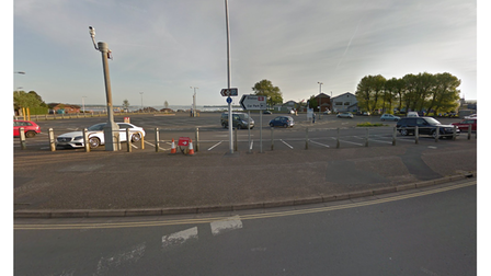 The Imperial Road car park in Exmouth