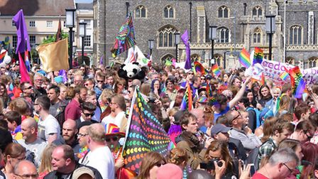Colour and fun in Norwich for the 2015 Pride celebrations.Picture by SIMON FINLAY.