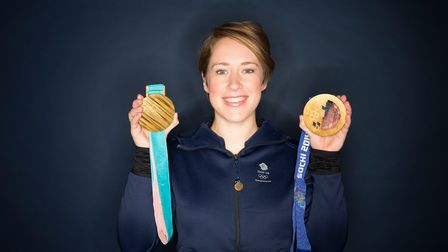 Lizzy Yarnold who will be speaking at an online event for Anglia Ruskin University