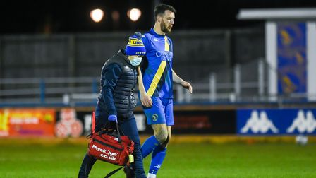 Rory McAuley was replaced in the second half - Credit: Ian Burt