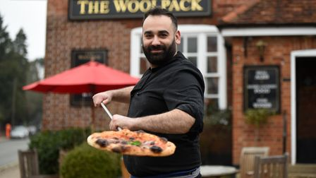 The Woolpackin Ipswich is now offering authentic Neapolitanpizza for takeaway, created by Italian chef Antonio Cioffi