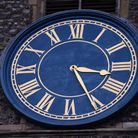 Norwich City history quiz on clocks. St George Tombland Church clock. Picture: DENISE BRADLEY
