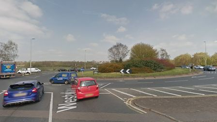 The collision took place at the Colne Bank roundabout