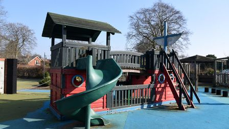 St Mary's Primary school in Woodbridge are fundraising for a new play area Picture: CHARLOTTE BOND