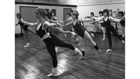 A jazz dance class in action in Ipswich in March 1985