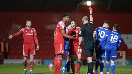 Connelly is sent off at Accrington