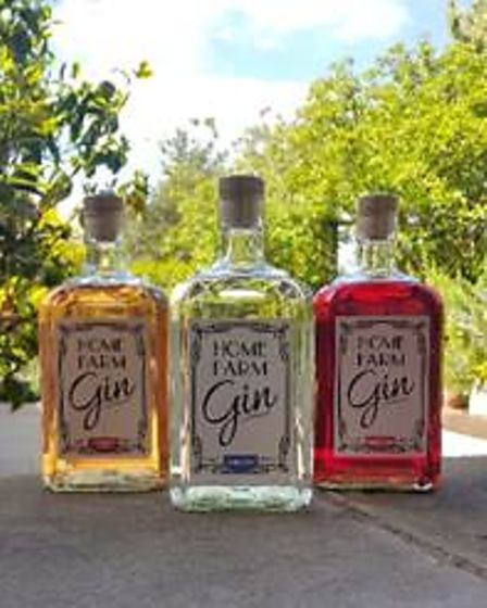 Home Farm Gin's raspberry, strawberry and mint and London dry flavours.