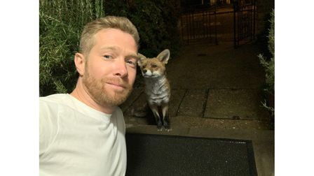 Zeb Soanes and Gaspard the fox have become firm friends.