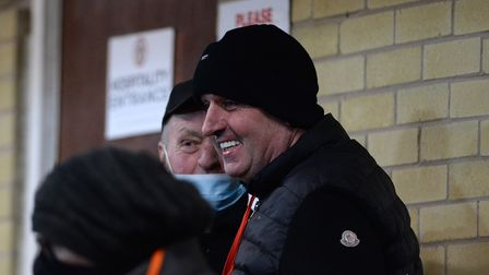 New Ipswich Town Manager Paul Cook at Accrington Stanley on Tuesday night