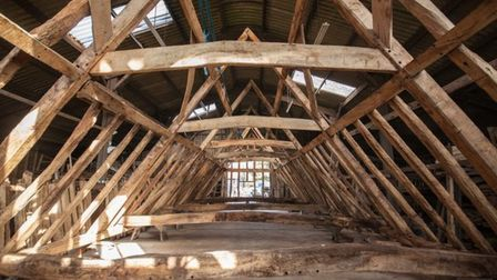 The barn is built on the site of a former Order of the Knights of St John hospital in Battisford