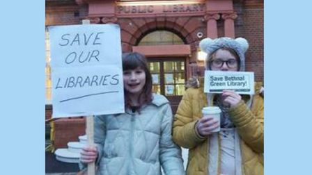 Youngsters campaigning to save Bethnal Green library