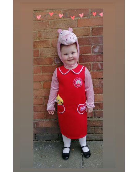 Lexie-mae Murphy aged four from Ipswich as Peppa Pig