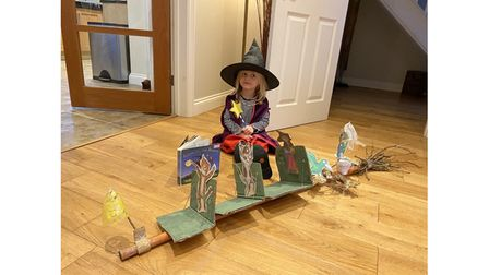 Isabella Nial, aged nearly three, asRoom On The Broom by Julia Donaldson