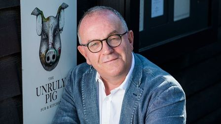 Brendan Padfield, landlord of the Unruly Pig, praised the new scheme Picture: CLAUDIA GANNON