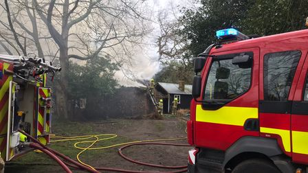 Wantisden thatched cottage fire