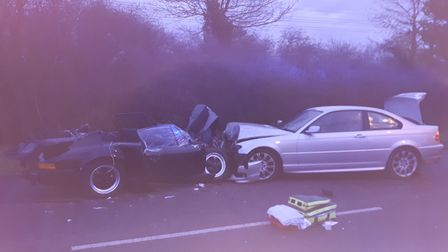 Horror crash all because BMW driver left home with frozen windscreen