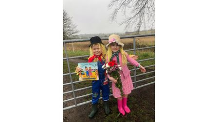 Savanna and Jimmy as Betty O Barley and Harry O Hay from Julia Donaldson's The Scarecrow's Wedding