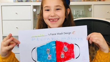 Children in Ely have been challengedto design their own facemask as part of acompetitionjudged by YouTube and CBBC star...