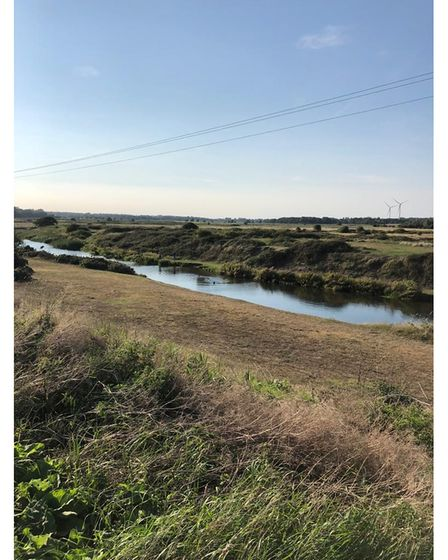 The river at Benacre leading to Kessingland Beach, which plays a pivotal role in Choked