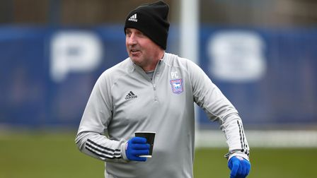 Paul Cook took Ipswich Town training for the first time on Thursday