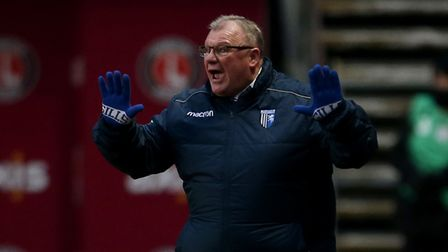 Gillingham manager Steve Evans during the Sky Bet League One match at The Valley, London. Picture da