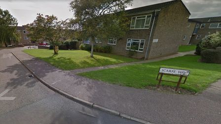 Scarfe Way, Colchester, where a man was attacked by two men