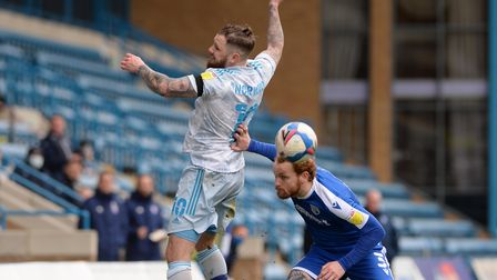 James Norwood is loses out at Gillingham