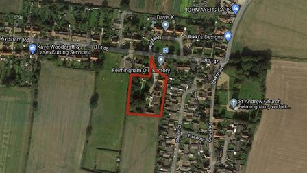 The site of the former Felmingham Old Rectory care home, which could be turned into 20 flats.