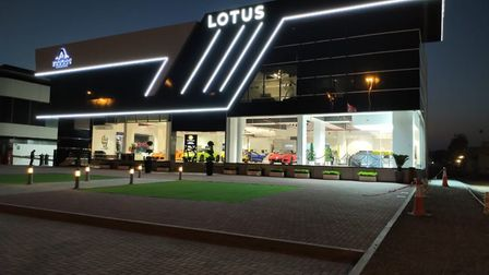 The all-new Lotus showroom in Dubai, where the Evija will be exhibited