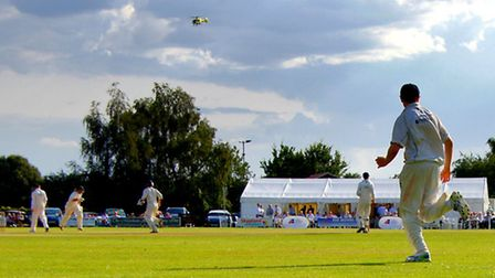 Action from the 2014 Norfolk Festival of Cricket, with Norfolk's James Spelman and Garry Park battin