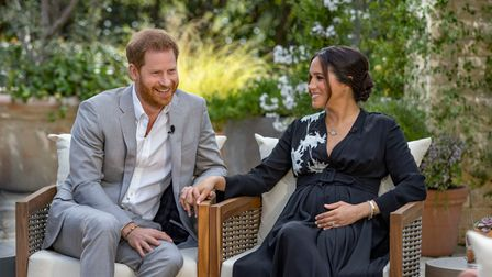 Handout photo supplied by Harpo Productions showing the Duke and Duchess of Sussex during their inte